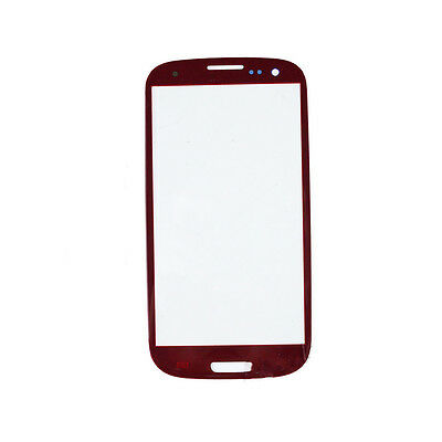 New Replacement Outer Screen Glass Lens Samsung Galaxy SIII S3 i9300 Red +Tools