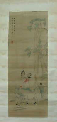 Chinese Antique Signed Scroll Painting by Ren BoNian