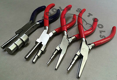 3 Step Wrap N Tap Wire Looping Pliers Jewelry Bail Making Tools 11 Sizes 4 Pcs