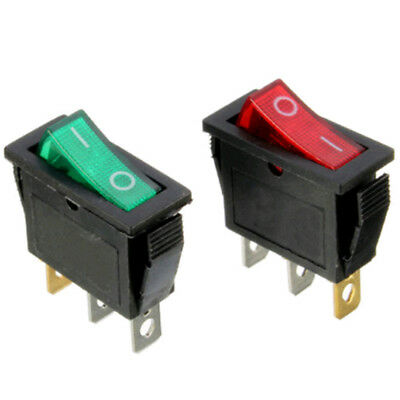 On/Off Large Rectangle Rocker Switch LED Lighted Car Dash Boat 3-Pin SPST x1pc
