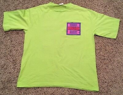 Bugle Boy Vintage NEON T-shirt - Large - Retro Throwback MUST SEE!!