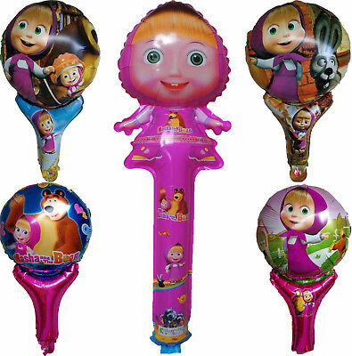 Masha And The Bear Air Fill Handled Balloon Birthday Party Bag Filler Gift Favor
