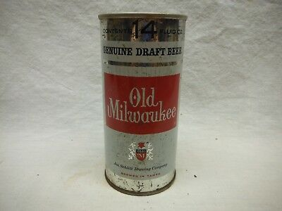"""Old Milwaukee """"Brewed In Tampa"""" 14 Oz. S.s. Beer Can-1969 Tampa,florida"""