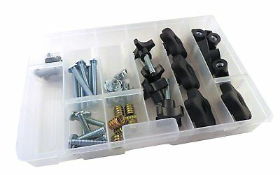 46 Piece Jig Fixture T Track Hardware Kit 1/4 20 Threads with Knobs, T Bolts,