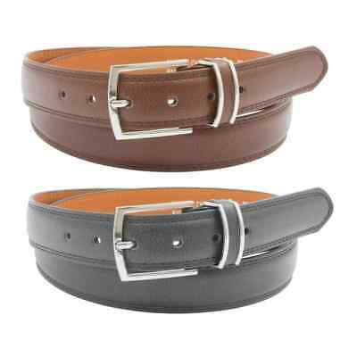 [BOGO] Men's Genuine Leather Dress Belts with Metal Pin Buckle