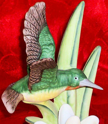 Vintage Ceramic Birds In Flight Lily Hummingbird Odessy Figurine Royal Heritage