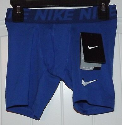 NWT Nike Boys Baselayer Compression Shorts Youth Size Small Blue 810490 480 $25