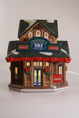 Coca-Cola - Town Square Collection -1996 - Chandler's Ski Lodge - M.I.N.T