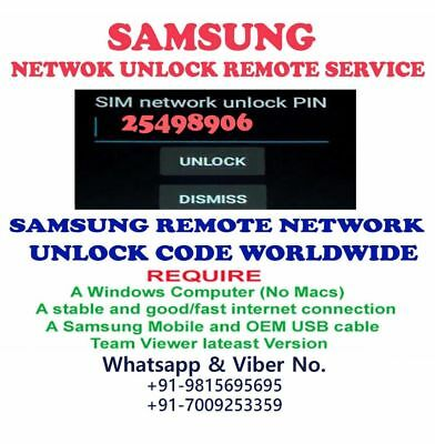 SAMSUNG GALAXY NOTE8 USA xfinity (SM-N950U)REMOTE UNLOCK CODE SERVICE 1 TO60 MIN