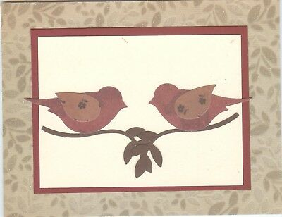 Country Birds on Branch Blank Notecards (Set of 5) #186 *Last Set