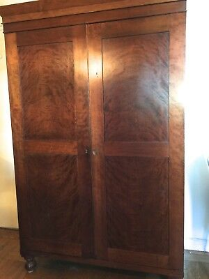 Antique hand made armoire with 6 drawers