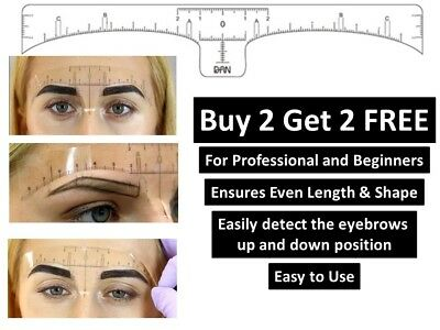 Pro Microblading Disposible Makeup Eyebrow Measure Guide Ruler Stencil Sticker