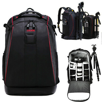 DSLR SLR Camera Bag Lens Padded Backpack Rucksack Waterproof Travel Bag Daypack