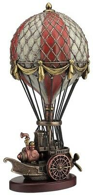 Veronese Bronze Figurine Steam Punk Steampunk Art Hot Air Balloon