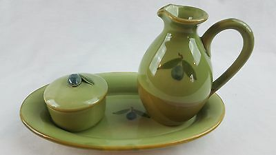 Ceramiche Virginia Pitcher Tray Jar Olives Design Ceramic Art Pottery Italy