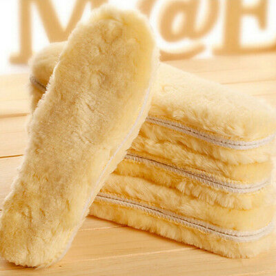 Thick Sheepskin & Lambswool Comfy-Feet Warm Thermal Unisex Shoe Boots Insoles A