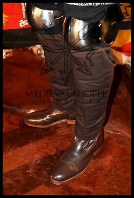 Padded Greaves - Medieval Shin Leg Armour (14B) BROWN