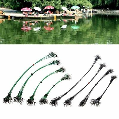 20Pcs Fishing Tackle Wire Stainless Steel Anti-bite Sub Fishline Accessories New