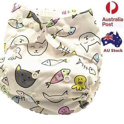 New Modern Cloth Nappy Adjustable Reusable FREE Insert MCN Nappies Nappy (D213)