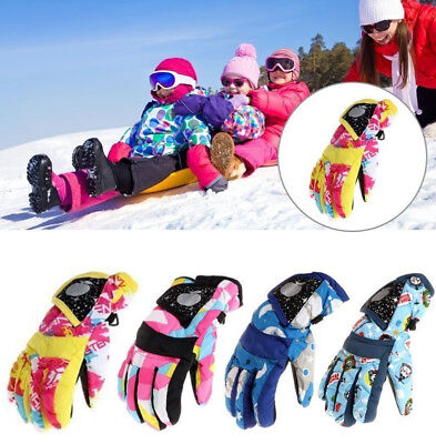 1 Pair Waterproof Winter Warm Kid Gloves Outdoor Snow Skiing Sports Gloves Gift