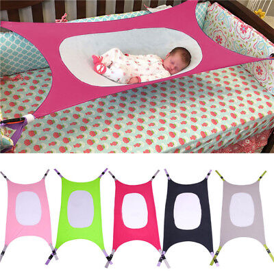 Newborn Baby Hammock Bed Elastic Detachable Baby Crib Portable Infant Bed Safe W