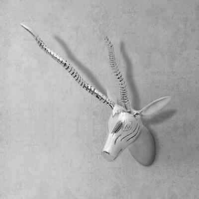 vidaXL Wall-Mounted Gazelle's Head Sculpture Wall Art Home Decor Aluminum 13""