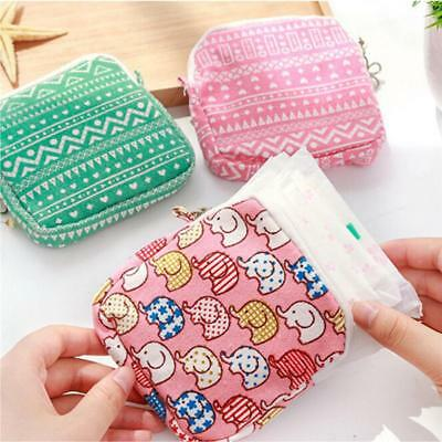 Sanitary Pad Napkins Pouch Towel Bag Holder Small Article Nursing Panty Liner LH