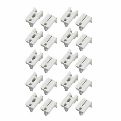 H023A1/H023A2 Window Door Accessories PP Plastic Connector White 10 Pairs