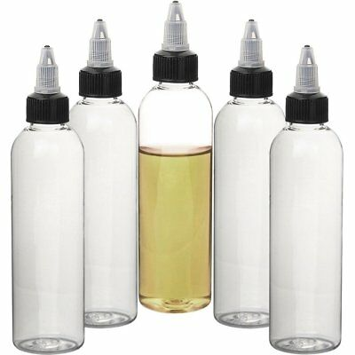 30ml 60ml 120ml Cosmo Clear Juice Liquid Vape Oil Dropper Bottles Twist Top Cap