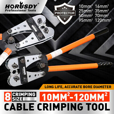 10-120 mm2 Wire Crimper Cable Crimp Tube Terminal Crimping Hand Tool Battery Lug