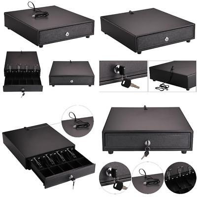 Heavy Duty POS Cash Drawer 4 Bills 5 Coins Removable Cash Tray Safe_KC