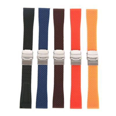 Silicone Rubber Wrist Watch Band Strap Replacement WatchStrap Belt Width 18-24mm
