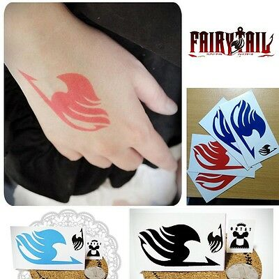 NEW Fairy Tail Body Sticker Natsu Elza Gray Lucy Temporary Tattoo Anime Cosplay