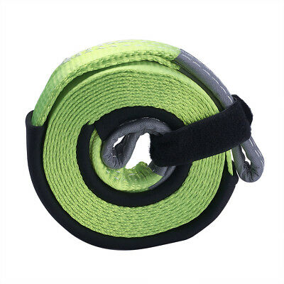 5M 5 Ton Van 4X4 Recovery Winch Off Road Tow Towing Rope Snatch Strap Strop 4Wd