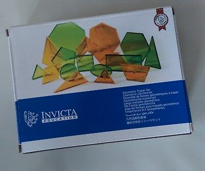 Geometric Tracer Set by Invicta Education (set of 17 plastic shapes)