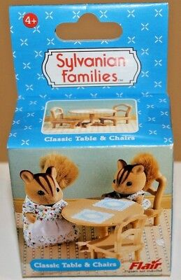 Sylvanian Families Classic Table And Chairs New Boxed Australian Seller