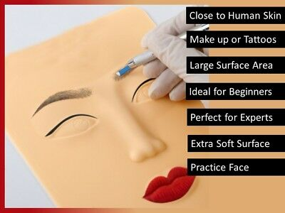 Microblading Practice Skin Face Tattoo Eyebrow Makeup 3D Lips Silicone Tool