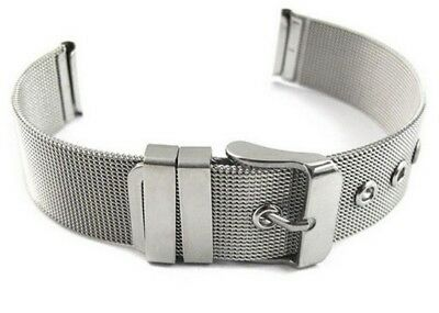 Stainless Steel Milanese Mesh Watch Strap Band 14 to 24 mm Stainless Steel Metal