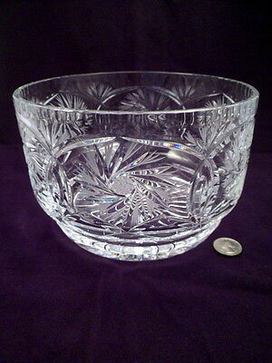 Large, Heavy, Exceptional Cut Crystal Bowl, Over 4 Lbs, Vintage