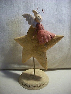 2004 Lang August Moon Figurine Believe In Your Dreams Angel Star 0507015 DiPaolo