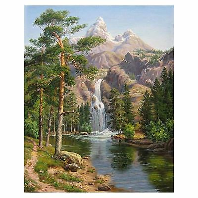 Diy Oil Painting by Numbers, Paint by Number Kits -Stone Pines Landscape- P L2L0