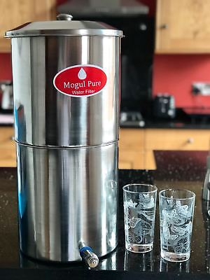 MOGUL Stainless Steel Gravity Water Filter Travel Camping *filter not included