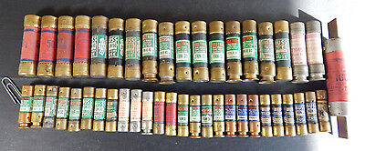 Lot of Approx. 40 Cartridge Type Fuses, Loose NOS, Various Sizes, Brands, Styles