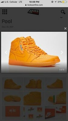 Air Jordan Retro 1 High Og 2017 Gatorade Orange Peel Aj5997-880