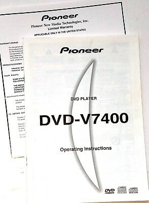 new manual for pioneer dvd v7400 operating instructions industrial rh picclick com Sony DVD CD Player Manual JVC Car CD Player Manual
