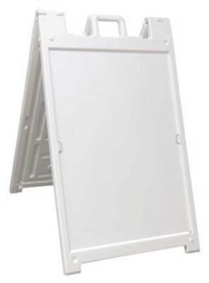 Deluxe Signicade A-Frame Sidewalk Curb Sign with Quick-Change System, White