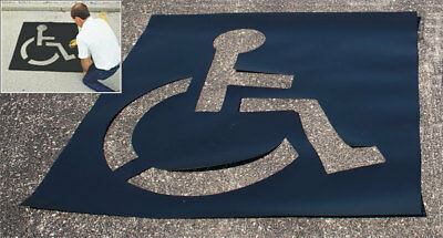 Large Light Duty Parking Lot Handicap Stencil
