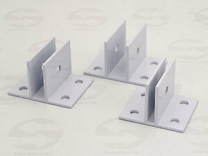 Sign panel Center Bracket-WHITE, Item Option: Size=1/4 inch