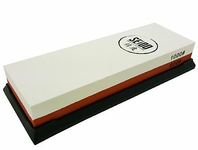 Seido 600/1500 Grit Combination Corundum Whetstone Knife Sharpening Stone /