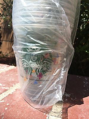 BRAND NEW DISNEY PARKS STARBUCKS Disposable GRANDE [16 fl. oz.] DRINK CUPS x50